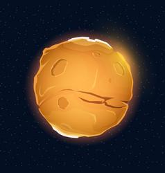realistic beautiful planet mars globe vector image