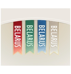 Ribbon set strips Belarus in retro style vector image vector image