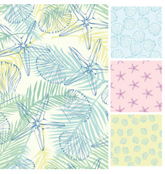 set of seamless patterns backgrounds collection vector image