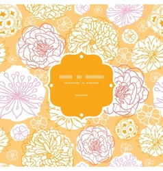 Warm day flowers frame seamless pattern background vector image vector image