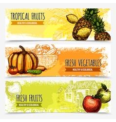 1609i041014Sm005c15sketch vegetables and fruits vector image