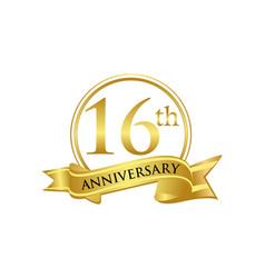 16th anniversary celebration logo vector image