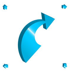 3d arrow icon vector image
