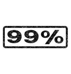99 percent watermark stamp vector image