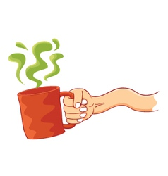 a cup of poison vector image