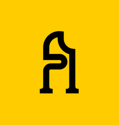 A letter old russian font national folk alphabet vector