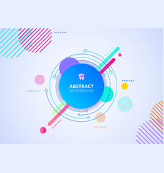 abstract colorful color circle geometric pattern vector image