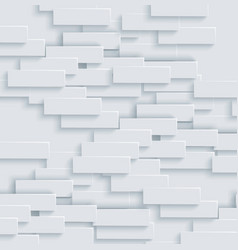 abstract geometric shape from grey bricks vector image