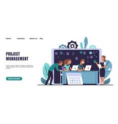 agile landing page kanban methodology software vector image