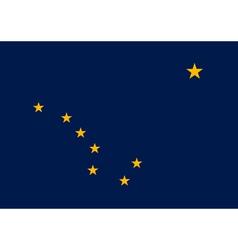 Alaskan state flag vector