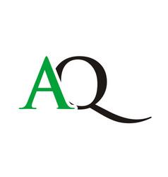 aq initials letter logo vector image