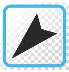 Arrowhead Left-Down Icon In a Frame vector