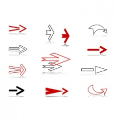 arrows design elements set vector image
