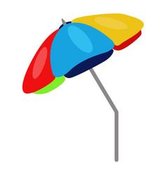 Beach umbrella icon on a white background vector