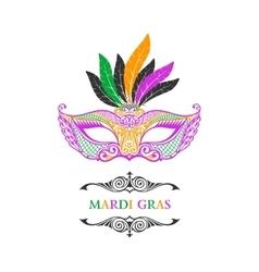 Beautiful mask of lace Mardi Gras vector image