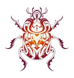 Beetle decorative tattoo vector image