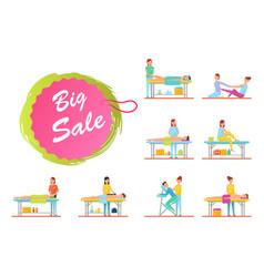 Big sale on massage massaging procedures set vector