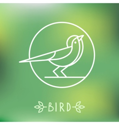 Bird icon in outline style vector