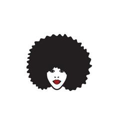 Black afro woman vector