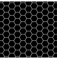 Black and gray carbon background with hexagons vector