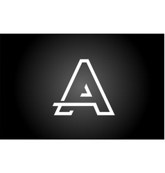 Black and white a alphabet letter logo icon for vector