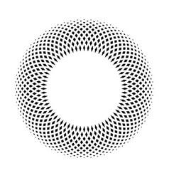 black ring mosaic on white background stylish vector image