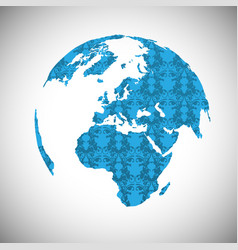 Blue world vector