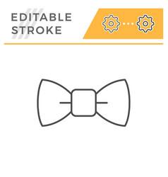 bow tie editable stroke line icon vector image