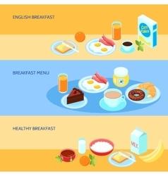 Breakfast Flat Set vector