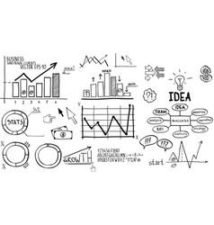 Business finance elements hand-drawn vector