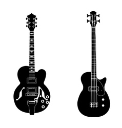 bw guitar set vector image