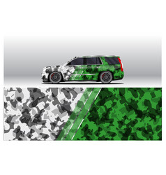 Car wrap decal designs for racing livery or daily vector