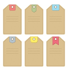 Carton gift or price tags vector image