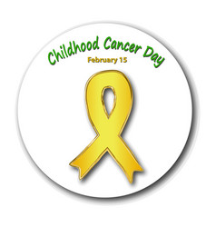 childhood cancer awareness cancer childrens day vector image