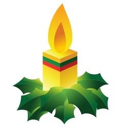 christmas candle vector image