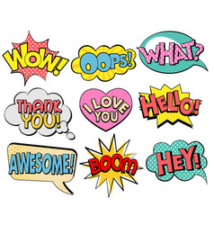collection speech bubbles in retro style vector image
