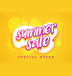 colorful abstract summer sale banner template vector image
