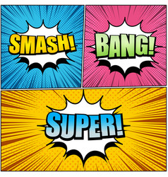 Comic book page bright composition vector