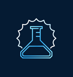 Conical flask outline colored icon or vector
