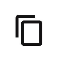 copy content icon vector image