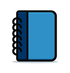 diary blue design icon vector image