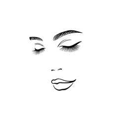 face a beautiful young woman vector image