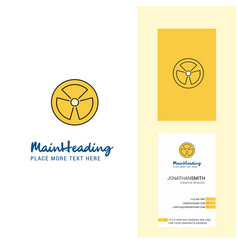 fan creative logo and business card vertical vector image