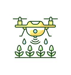 Farming drones rgb color icon vector