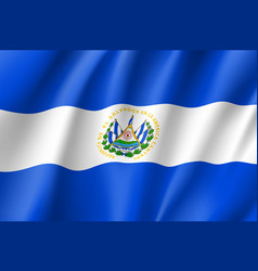 Flag el salvador realistic icon vector