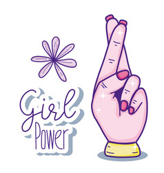 girl power cartoons vector image