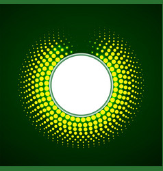 glowing dots circle halftone dotted background vector image