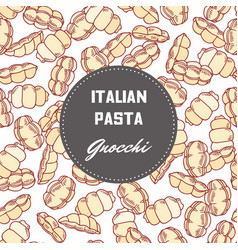 hand drawn background with pasta gnocchi vector image