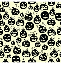 Hand drawn halloween seamless pattern with cartoon vector image