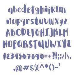 Handdraw brush font vector